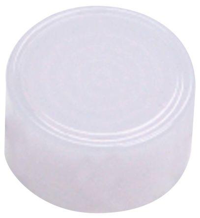 Indicator Lens Round Flat Style, White, 24mm diameter , 4 mm Long product photo