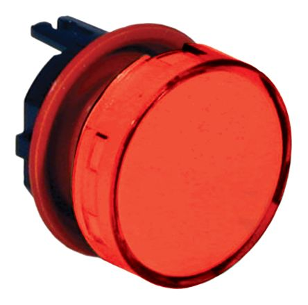 Indicator Lens Round Style, Red, 23.5mm diameter , 12.5 mm Long product photo