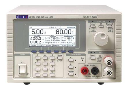 Aim-TTi Electronic Load LD400 Series LD400 0 → 8 A@ 1mA, 0 → 80 A@ 10mA