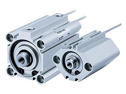 SMC Pneumatic Guided Cylinder 32mm Bore, 20mm Stroke, CQ2 Series, Double Acting