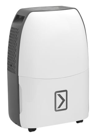 RS PRO TTK Dehumidifier, 3.5L water tank, 12L/day extraction rate Type G - British 3-pin