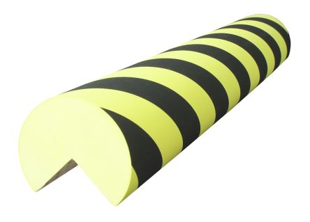 RS PRO Black, Yellow Corner Protector, 1m by 150mm