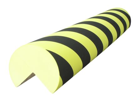 RS PRO Black, Yellow Corner Protector, 1m by 100mm