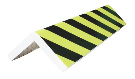 RS PRO Black, Yellow Corner Protector, 750mm by 300mm