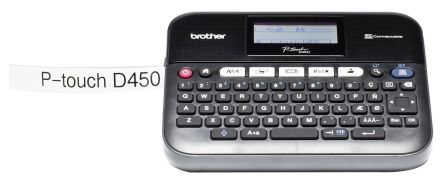 BROTHER PT-D450VP Label Printer with QWERTY Keyboard, UK Plug