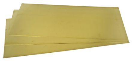 Brass Sheet, 600mm x 300mm x 0.45mm 300 → 550 MPa