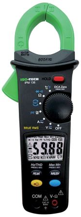 ISO-TECH IPM138N Clamp Meter, Max Current 600A ac, 600A dc CAT II 1000 V, CAT III 600V
