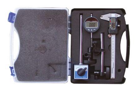 RS PRO Metric & Imperial Digital Caliper, Digital Indicator, Magnetic Base Measuring Set