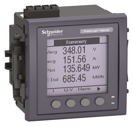 Schneider Electric PM5000 LCD Digital Power Meter, 92mm x 92mm, 3 Phase , ±0.5 % Accuracy