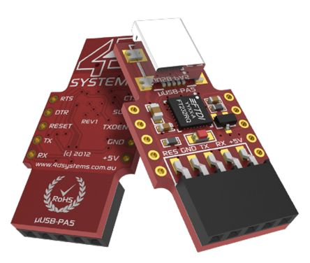 4D Systems USB to UART Programmer, uUSB-PA5-II