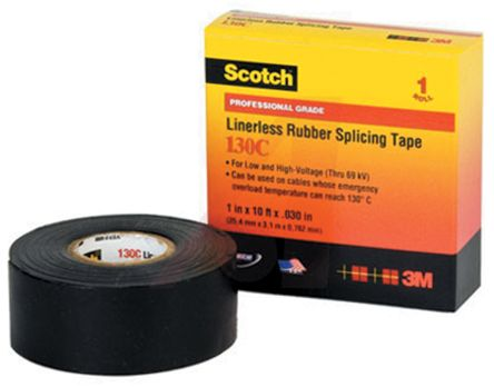 3M Black Electrical Insulation Tape, 25mm x 9m