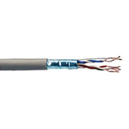 RS PRO Grey Cat6 Cable FTP LSZH, PVC Unterminated/Unterminated Low Smoke Zero Halogen (LSZH), 100m