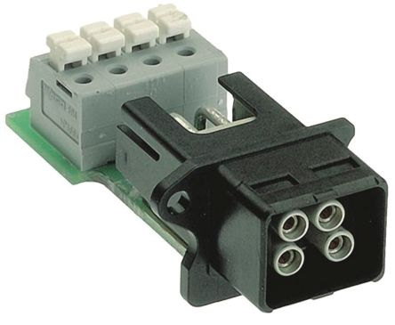 HARTING Push Pull 0946 Series PCB Mount Connector, Female, 4 Way, 12A, 48 V dc