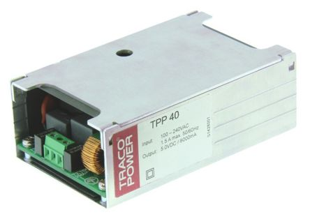 TRACOPOWER, 40W Embedded Switch Mode Power Supply SMPS, 5V dc, Encapsulated, Medical Approved
