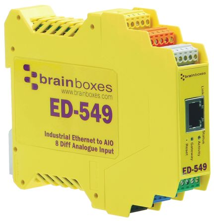 Brainboxes Ethernet Switch 8 x Analogue In, Ethernet