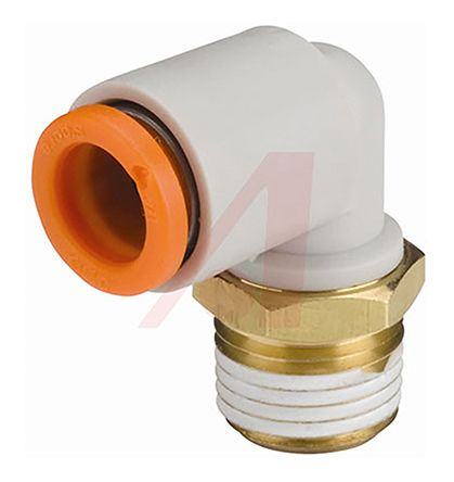 Elbow Connector, R 1/4 Male, Push In 3/8 in product photo