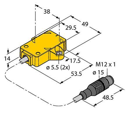 RI360P2-QR14-ELIU5X2-0.3M-RS 5 | Turck Cable embly with a M12 ... on 1999 toyota camry exhaust diagram, sensor diagram, pressure transducer troubleshooting, 2004 dodge 2.7 engine diagram, pressure transmitter wiring, pressure transducer sensor, pressure transducer circuit, pressure transducer valve, 2001 camry exhaust system diagram, 2000 toyota camry exhaust diagram, 2004 dodge intrepid engine diagram, pressure transducer switch, pressure transducer block diagram, 1999 camry exhaust system diagram, pressure tank wiring diagram, depth transducer wiring diagram, pressure transducer adjustment, pressure transducer schematic, pressure transducer system, pressure transducer cable,