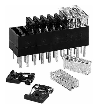Pack of 5 10A Plastic GMT Series Indicating Telecom Protection Fuse