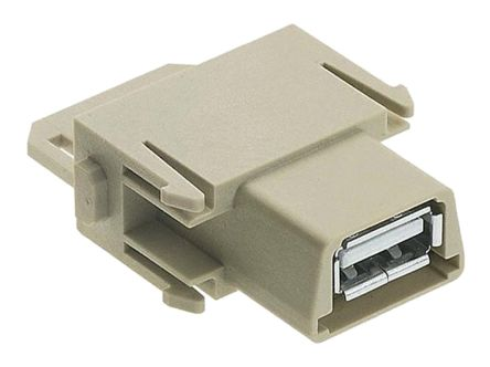 Han-Modular 914 Series Cable Mount USB Module, Female, 4 Way, 1A, 50 V