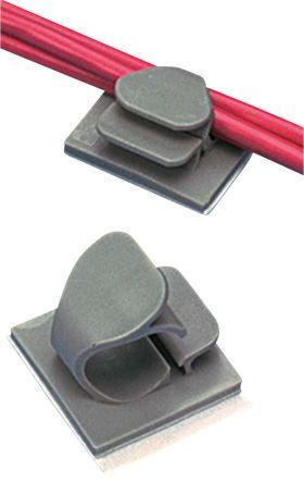LWC38-A-C14 Panduit   Panduit Cable Clip Grey Rubber Adhesive Nylon ...