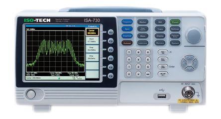 ISO-TECH ISA 730 Desktop Spectrum Analyser, TFT LCD, Host, RS232C, USB, 150 kHz → 3 GHz