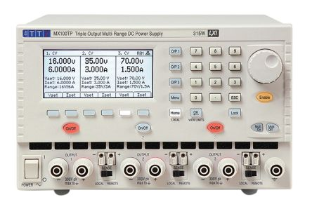 Aim-TTi 51153-9440 Analogue, Digital Bench Power Supply, 3 Output 0 → 16 V, 0 → 35 V, 0 → 70 V