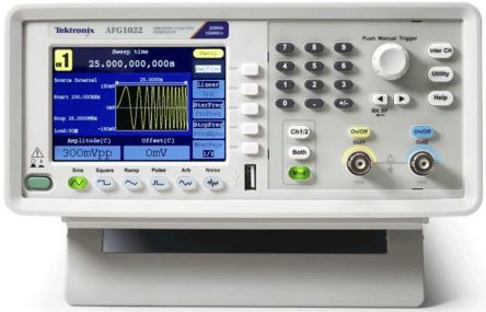 Function/Arbitrary Waveform Generator Bench 25 Mhz 2 Ch. 3.95 In. Color TFT