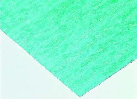 Klinger Nitrile Rubber 750 x 500mm 2mm Thick Green, White Gasket Sheet, Anti Stick Surface, Maximum of +430°C