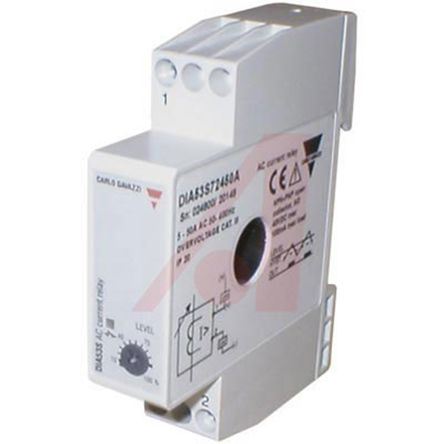 dia53s72420a carlo gavazzi current monitoring relay with spst rh uk rs online com current relay broyce control current control relay abb