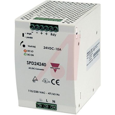 Carlo Gavazzi DIN Rail Power Supply, 24V dc Output Voltage, 10A output  current