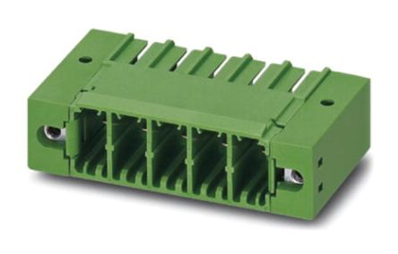 Phoenix Contact PC 5/12-GF-7.62, 7.62mm Pitch, 12 Way PCB Terminal Block Header