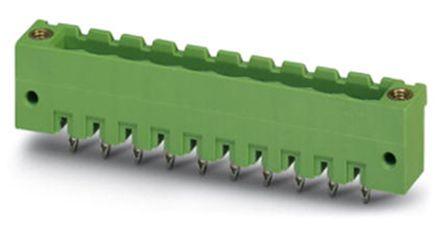 Phoenix Contact EMSTBV 2.5/ 3-GF, 5mm Pitch, 3 Way PCB Terminal Block Header