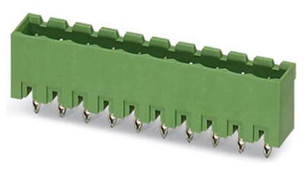 Phoenix Contact EMSTBVA 2.5/12-G, 5mm Pitch, 12 Way PCB Terminal Block Header