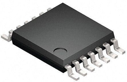 STMicroelectronics M74HC132YTTR, Quad 2-Input NAND Schmitt Trigger Logic Gate, 14-Pin TSSOP