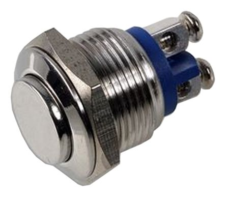 Screw Push Button Switch, , 2 A, Single Pole Single Throw (SPST), -20 → +55°C