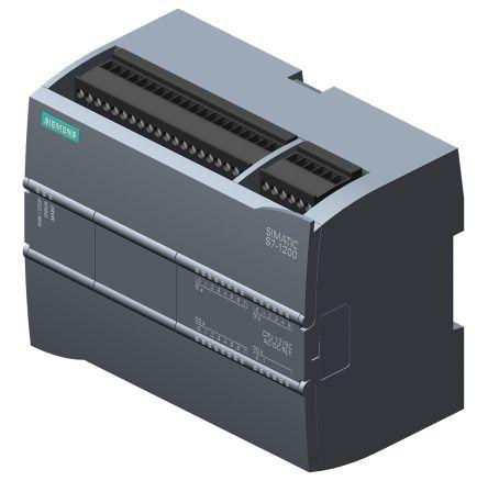 Siemens S7-1200 PLC CPU, Ethernet Networking Profinet Interface, 100 kB  Program Capacity, 14 (Digital Input, 2 switch
