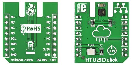 MikroElektronika MIKROE-1687, HTU21D Temperature Sensor mikroBus Click Board