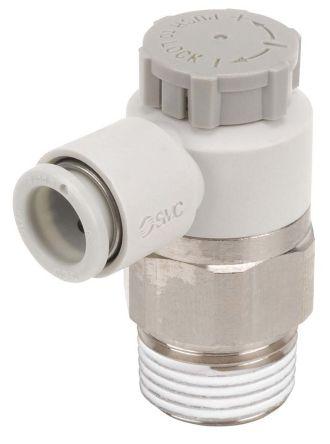SMC NEW AS2201F-02-08S PLC Speed Air Flow Control Valve Elbow