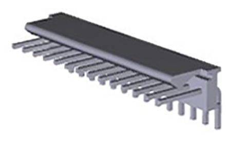TE Connectivity, MTA-100, 14 Way, 1 Row, Right Angle PCB Header