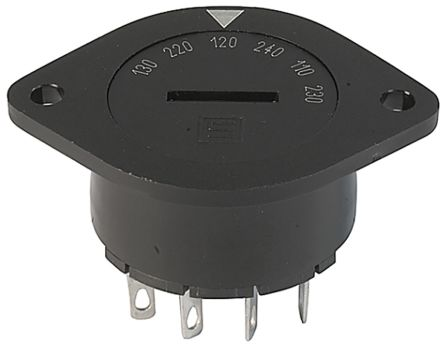 IP40 Panel Mount Rotary Switch 6PST 10 (UL) A, 6.3 (CSA) A, 6.3 (IEC) A Slot product photo
