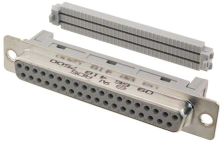 D-Sub Standard Series 2.77mm Pitch 37 Way IDC D-sub Connector, Socket product photo