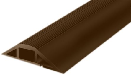 RS PRO Cable Cover, 7.4mm (Inside dia.), 25.4 mm x 1m, Brown