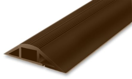 RS PRO Cable Cover, 22mm (Inside dia.), 76.2 mm x 1m, Brown