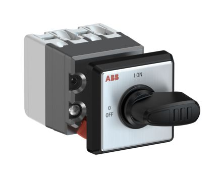 2 positions 90° Rotary Switch, 400 V, 10 A, Handle