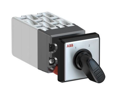 ABB, 3PST 2 Position 60° Rotary Switch, 400 V, 10 A, Handle Actuator