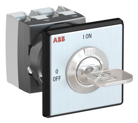 2 positions 90° Rotary Switch, 400 V, 25 A, Key
