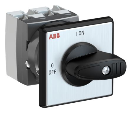 ABB, DPST 2 Position 90° Rotary Switch, 400 V, 25 A, Handle Actuator
