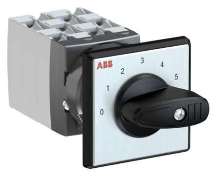 ABB, SPST 6 Position 30° Rotary Switch, 400 V, 25 A, Handle Actuator