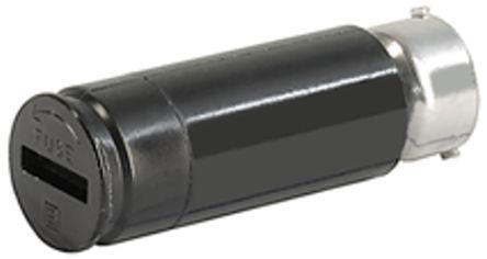 Portafusibles para montaje en panel Schurter 0031.1613, 10A, Ranurado, mini, Serie FEC