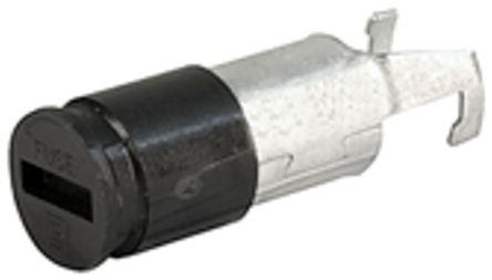 Portafusibles para montaje en panel Schurter 0031.1661, 10A, Ranurado, mini
